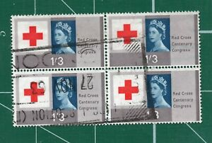 GB Red cross 1/3 block of 4 nice used stock 143
