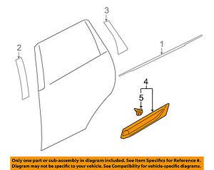 MITSUBISHI OEM Outlander Rear Door Body Side-Lower Molding Trim Right 5757A516