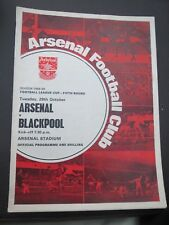 Arsenal V Blackpool L Cup 1968/9