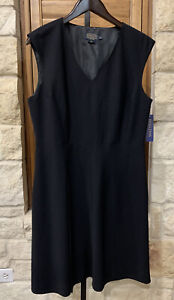 Pendleton Women's Wool Dress Career Essentials Black Lined Size 14P NWT $229