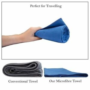 Microfibre Super Absorbent Quick Dry Lightweight Towel-Perfect for Travel Sports
