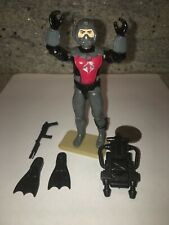 vtg Cobra Eels frogman w/flippers, backpack, jetpack & harpoon 1985 GI Joe