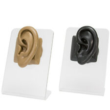 Realistic Adult-Sized Silicone Left Ear Display - Black Body Bit Version 2