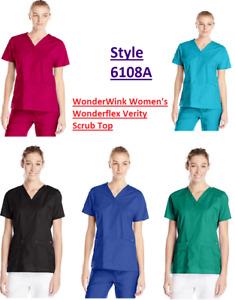 NWT - WonderWink Womens Scrubs Wonderflex Verity Top 6108A
