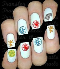 Game of Thrones le trône de fer  Stickers ongles manucure nail art water déco