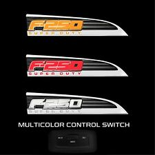 RECON 264285CH 11-16 Superduty F-250 Illuminated Amber-Red-White Emblem LED