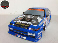 YOKOMO 1/10 RC TOYOTA AE86 CARBON HOOD PAINTED BODY - LED HEADLIGHT & TAIL LIGHT