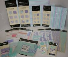 Lot Making Memories Simply Fab Meg Lavender Blue Scrapbook Kit Paper Stickers