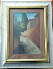 quadro del pittore Giuseppe Gagliardi olio su cartoncino