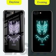 Batman Superman Tiger Luminous Tempered Glass Case For Apple iPhone Xs Max X 8 7