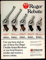 1990 RUGER Super Redhawk 44 magnum Redhawk 41 mag GP100 SP101 Revolver Promo AD