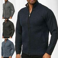 Cardigan da uomo con maglione alto maglia in lana con collo alto gilet in maglia