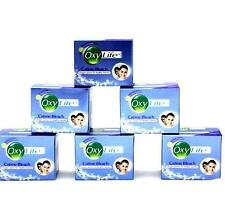 6 x 9g Dabur Oxylife Cream Bleach Skin Lightening Ammonia Free Bleach Free Ship