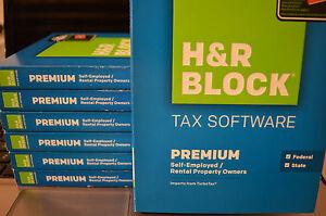 2014 H&R Premier Federal & State turbo Schedule C Rental/Investment Tax Cut Box