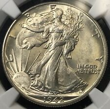1942-D Walking Liberty Half Dollar NGC MS63 Fresh Coin! R-AFE
