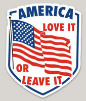 America Love it or Leave it Vintage Style Decal / Vinyl Sticker/ Die Cut