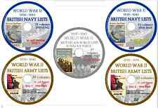 World War 2 British Army Royal Navy Air Force Lists 1939-1945 197 Volumes 5 DVDs
