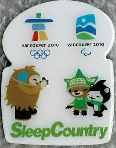 2010 Vancouver Sleep Country Olympic Games Marks Mascots Pin