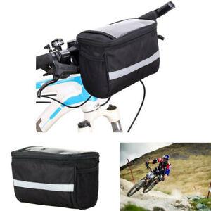 Bicycle Cycling Handlebar Bag Mountain Bike Front Pack Basket Portable Outdoor
