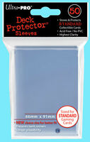 50 Ultra Pro CLEAR DECK PROTECTOR Game Card Sleeves Standard Size Pokemon mtg