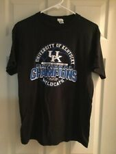 KENTUCKY WILDCATS NCAA 2012 National Champions Black T-Shirt Size Medium