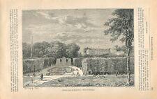 Panorama Château & Parc de Saint-Cloud Dessin de Daubigny GRAVURE OLD PRINT 1866