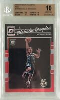 Malcolm Brogdon 2016-17 Panini Donruss Optic Rookie Red /99 BGS 10 Pristine