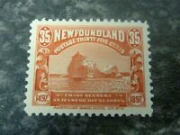 NEWFOUNDLAND POSTAGE STAMP SG78 35 CENTS RED LIGHTLY MOUNTED MINT