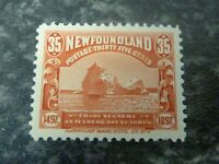 NEWFOUNDLAND POSTAGE STAMP SG78 35 CENTS RED LIGHTLY-MOUNTED MINT