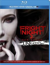 FRIGHT NIGHT 2: NEW BLOOD (BLU-RAY/DVD, 2013, 2-DISC SET, UNRATED) NEW & SEALED