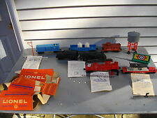 LIONEL POSTWAR O GAUGE TRAIN LOT MAINTENANCE CAR BRONX ZOO ENGINE & TENDER ++