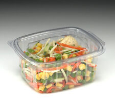 500cc Disposable Plastic Salad/Pastry Catering Caterbox Boxes (Case of 200)