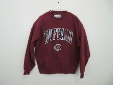 Vitnage Buffalo State College Bengals Pull Over Sweatshirt Sweater Red Mens XL