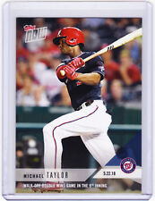 Michael Taylor Washington Nationals Topps NOW Moment 241 on 5.22.18 2018 PR 214