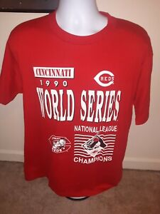 Vintage 1990 Cincinnati Reds World Series Champions Crewneck Size XL Velva Sheen