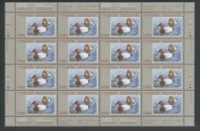FEDERAL WILDLIFE 1986 SHEET OF 16 FWH2b MNH CANVASBACKS