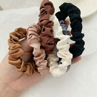 6Pcs Elastic Hair Bands Silk Satin Scrunchie Hair Ropes Ring Ponytail Holders