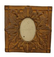 """Picture Frame Cast Iron Metal Ornate Victorian Cameo Easel Back 6""""Sq x3""""Opening"""