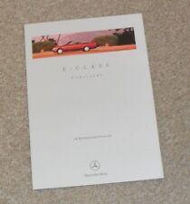 Mercedes E Classe Cabriolet Price Guide & options 1996-W124 E220 E320 Cabriolet