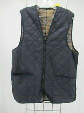 I8776 VTG Barbour Men's Plaid Lining Quilted Waistcoat Size 42