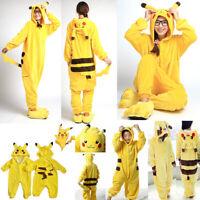 Kids Boy Girl Adult Kigurumi Pajamas Pokemon Pikachu Cosplay Costume Halloween