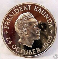 Zambia 5 Sh 1965 Independence President Kaunda Limited Proof Error Coin