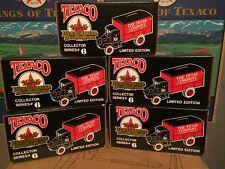 5 Ertl Texaco #6 Collector Bank Trucks 1926 Mack series,MINT.stock # 9040VO