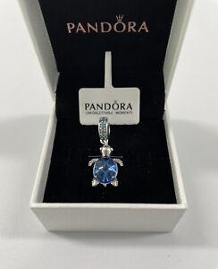ALE S925 Genuine Pandora Murano Glass Sea Turtle Dangle Charm With Gift Box