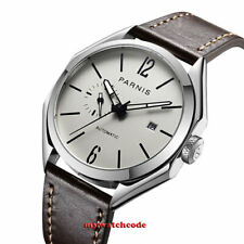 43mm PARNIS gray sandwich dial sapphire crystal miyota 8215 automatic mens watch