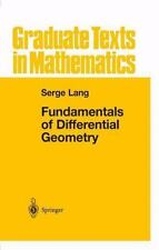 Fundamentals of Differential Geometry 191 by Serge Lang (2012, Paperback)