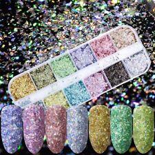 Mode Irrégulière Mermaid Colorful Flakes Nail Art Glitter Gel Polonais Manucure