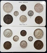 More details for 1911-1936 coin year gift sets old money all sets have silver unusual gift idea