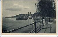 Friedrichshafen Baden Württemberg AK ~1920/30 Partie am Bodensee mit Schiff