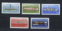 ALEMANIA BERLIN GERMANY 1975 MNH SC.9N354/358 Passenger ships